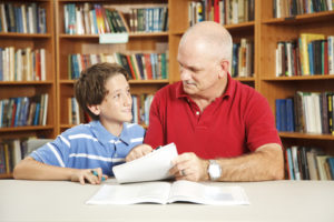 Image of school child with a mentor