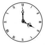 Clock pointing to four o'clock