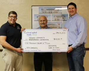 FirstCapital Bank of Texas Donates to Midland Community Development Corporation Center